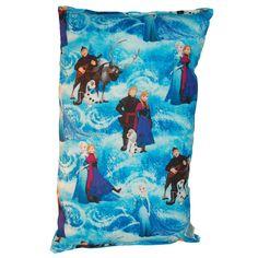 Lillowz Disney Frozen Reversible 9 x 16-inch Rectangular Throw Pillow (Frozen), Blue, Size Specialty (Cotton, Character)