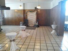 Zona de bar boda rustica
