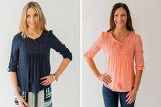 Feminine Boho Blouse- 2 Colors  Boho blouse with crochet detail Starting at  50% OFF