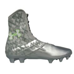 the best attitude be716 1c0b7 Under Armour Highlight MC Lacrosse Cleats - SilverGreen Lacrosse Gear,  Cleats, Under