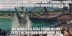 """The full trailer of the upcoming dinosaur movie """"Jurassic World"""" has been released today. The American science fiction adventure movie is the fourth installment in the Jurassic Park film series. Jurassic World Trailer, Jurassic World Movie, Jurassic Park 1993, Lego Jurassic, Jurassic Park Wallpaper, Thriller, Jurrassic Park, Critique Film, Jurassic Park"""