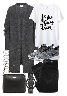 """""""Untitled #19157"""" by florencia95 ❤ liked on Polyvore featuring Acne Studios, NIKE, Denham, Linea Pelle, Marc by Marc Jacobs and Forever 21"""