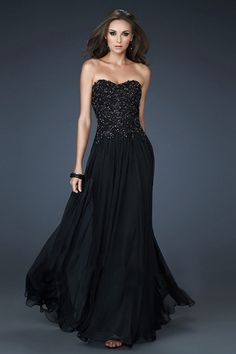 Unique Sweetheart Mermaid Corset Back Floor length Black Champagne ...