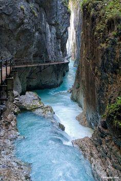 Leutasch Spirit Gorge (Leutascher Geisterklamm), Mittenwald, Garmisch-Partenkirchen, Bavaria, Germany