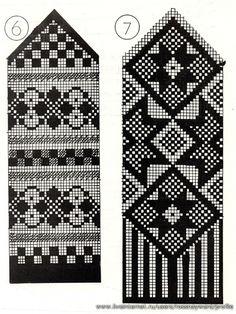 Fair Isle by sharron Knitting Machine Patterns, Knitting Charts, Knitting Socks, Knitting Stitches, Knitted Mittens Pattern, Crochet Mittens, Fair Isle Pattern, Fair Isle Knitting, Tapestry Crochet
