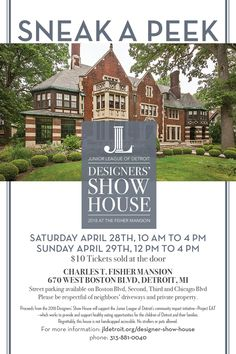 0d48b13b6b726 Designers  Show House - Junior League of Detroit Detroit