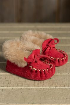 49b54922327e Baby s Sueded Leather Moccasin Booties with Shearling Linin Детские Мокасины,  Обувь Для Девочки, Обувь