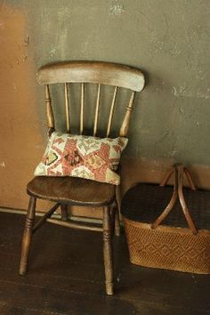 chair and basket