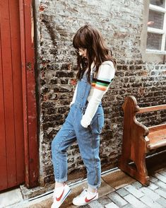 UO Rainbow Striped Funnel Neck Ribbed Jumper | Urban Outfitters | Women's | Tops | Jumpers & Cardigans via @katybellemairs #UOEurope #UrbanOutfittersEU #UOonYou