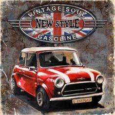 Vintage Cars Classic Posterazzi Car Vintage Soul Canvas Art - Bresso Sola x - Car Vintage Soul Canvas Art - Bresso Sola x Vintage Soul, Vintage Diy, Vintage Design, Vintage Cars, Images Vintage, Vintage Posters, Classic Mini, Classic Cars, Bar Metal