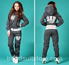 #hood #tracksuit Stylish womens sweatsuit slant zip up hooded
