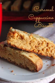 I love these Cappuccino Caramel Biscotti cookies. They are perfect for coffee and wonderful snack! Cookie Desserts, Cookie Recipes, Dessert Recipes, Biscoff Recipes, Cookie Ideas, Brunch Recipes, Breakfast Recipes, Caramel Cappuccino, Biscotti Cookies