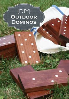 These DIY Outdoor Dominos will make for great entertainment during your summer parties!