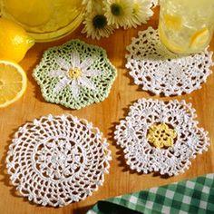 Leisure Arts - Coasters in Bloom Thread Crochet Patterns ePattern, $4.99 (http://www.leisurearts.com/products/coasters-in-bloom-thread-crochet-patterns-digital-download.html)