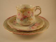Vintage KPM Japan 3 piece tea set by MSMUnlimited on Etsy, $25.00