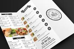 Simple & Clean Food Menu by on Creative Market Badge Design, Menu Design, Label Design, Graphic Design, Psd Templates, Brochure Template, Design Templates, Edit Font, Leaflet Design