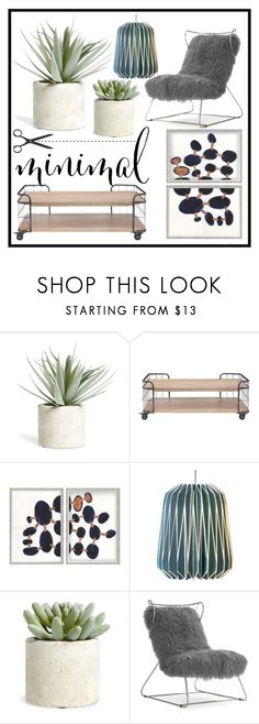 """""""minimal..."""" by daniel-mrva on Polyvore featuring interior, interiors, interior design, home, home decor, interior decorating, Allstate Floral, Moe's Home Collection and Mitchell Gold + Bob Williams"""