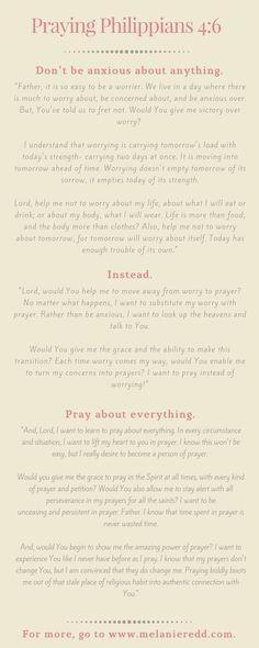 How to Make Philippians 4:6 Your Prayer Infographic