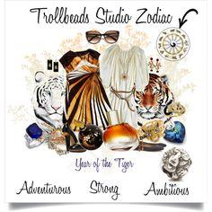 """Trollbeads Zodiac- Year of the Tiger"" by trollbeadsstudio on Polyvore"