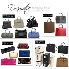 """""""Dramatic handbags for all occasions"""" by theluxejunkie on Polyvore"""
