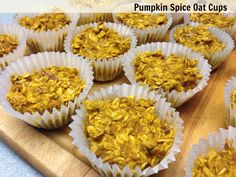 Pumpkin Spice Oat Cups with Pecans and Crystallized Ginger - Easy portable healthy vegan breakfast or snack for on the go.