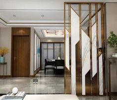 Living Room Partition Design, Room Partition Designs, Bedroom False Ceiling Design, Foyer Design, House Design, Wooden Front Door Design, Jaali Design, Home Entrance Decor, Interior Design Presentation