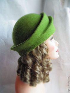 """Шляпы ручной работы. шляпка валяная """" В ожидании весны"""". Теплые штучки (Samchuk…"""