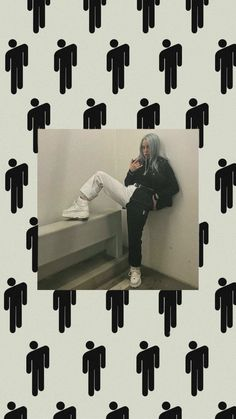 Billie Eilish logo aesthetic black and white wallpaper - ImPane Cute Patterns Wallpaper, Aesthetic Pastel Wallpaper, Aesthetic Wallpapers, Billie Eilish, Bad Girl Aesthetic, Aesthetic Black, I Love You Song, Black And White Wallpaper, Aesthetic Videos