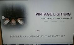 Screenshot of our new website launching our new vintage range and website really soon Vintage Lighting, Interior Lighting, Range, Website, Design, Cookers, Stove, Ranges, Vintage Lamps