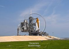 View Stock Photo of Space Shuttle Endeavour on the launch pad at Kennedy Space Center, Florida. Space Shuttle Missions, Kennedy Space Center, Launch Pad, Nasa, Discovery, Product Launch, Florida, Stock Photos, Building
