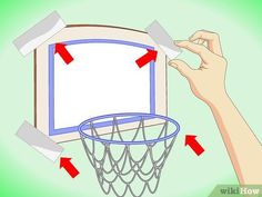 How to Make an Inside Basketball Hoop for Your Room. Want to play some basketball in your bedroom (or, if no one is looking, your office)? There are two different ways in which you can make a hoop of your own that can fit in any space. Basketball Games For Kids, High School Basketball, Basketball Skills, Basketball Gifts, Basketball Socks, Basketball Uniforms, Basketball Court, Basketball Party, Spalding Basketball Hoop