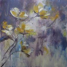 """Saatchi Art Artist Natalia Esanu; Painting, """"apple blossom"""" #art"""