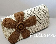 CROCHET PATTERN Crochet Bag Pattern crochet purse pochette - Sale! Up to 75% OFF! Shot at Stylizio for women's and men's designer handbags, luxury sunglasses, watches, jewelry, purses, wallets, clothes, underwear
