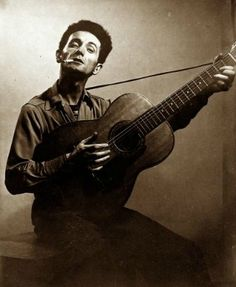 Sid Grossman, Folksingers, Woody Guthrie on ArtStack #sid-grossman #art