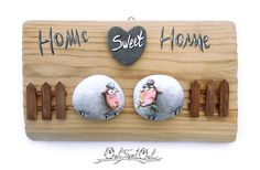 Hand Painted Home Sweet Home 3-D Artwork with Two Sheeps!  My hand painted 3-D paintings are unique pieces of art! Ready to hang, they are made with