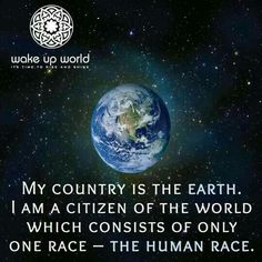 The world belongs to all of us....
