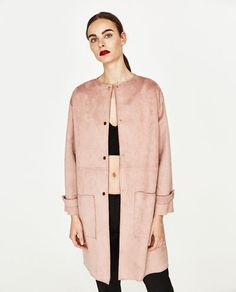 Image 6 of FAUX SUEDE COAT from Zara