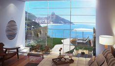 Estudo de Hotel no JOÁ - RJ Vista desde Suite-tipo