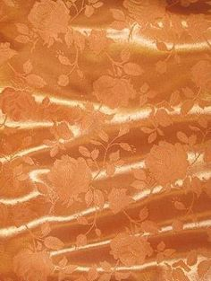Orange Eversong Brocade Fabric - Bridal Fabric by the Yard
