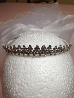 First communion veil bridal veil with rhinestone by 3BusyBirds, $39.00