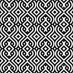 Classic black and white pattern, gorgeous! | check out Kelly Wearstler White on Black dinnerware