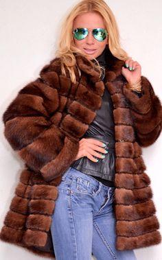 Demi Buff Mink Fur Jacket
