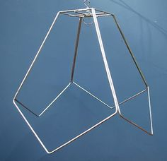 Lamp shade frame square steel wire hand made in nyc pinterest isnt this a terrific lampshade frame i see dramatic art deco colors with keyboard keysfo Choice Image