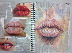 art sketchbook a level ~ art sketchbook - art sketchbook ideas - art sketchbook inspiration - art sketchbook aesthetic - art sketchbook easy - art sketchbook a level - art sketchbook drawing - art sketchbook assignments A Level Art Sketchbook Layout, Gcse Art Sketchbook, Art Sketches, Art Drawings, Drawing Faces, Drawing Art, Drawing Tips, Drawing Ideas, Observational Drawing