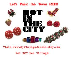 Let's Paint the Town RED!! by myvintagejewels on Polyvore featuring vintage, women's clothing, women's fashion, women, female, woman, misses and juniors