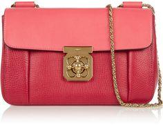 Chloé Elsie medium textured-leather shoulder bag