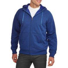 Faded Glory Big Men's Sherpa Hoodie, Size: 3XL, Blue