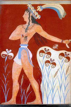 SZTUKA EGEJSKA: Książę wśród lilii – malowidło w Knossos