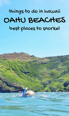 Best beaches and spots for snorkeling in Oahu Hawaii. For US beaches in Hawaii, there are kid-friendly activities like snorkeling and swimming with turtles and fish! Best Oahu beaches give you things to do in Oahu near hiking trails, food, and shopping. USA travel destinations for bucket list world adventures when on a budget with Hawaii vacation ideas! Put Waikiki Beach, East Oahu, North Shore snorkeling on the itinerary! snorkeling gear to Hawaii packing list and what to wear in Hawaii…