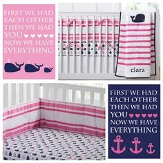 Perfect prints to go with Pottery Barn Kids Hamptons Whale Nursery Bedding.